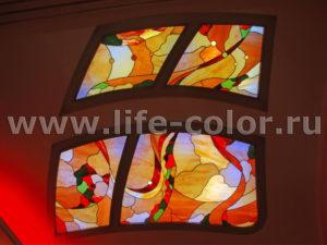 потолок тиффани с подсветкой 3