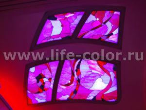 потолок тиффани с подсветкой 4