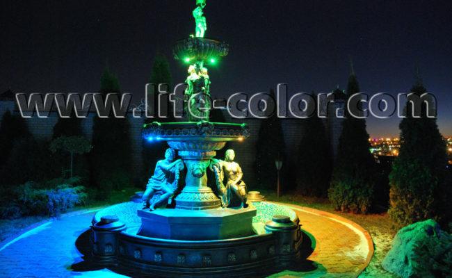 фонтан синий
