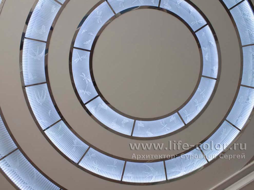 потолки стеклом