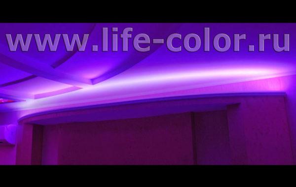 Цветная подсветка потолка