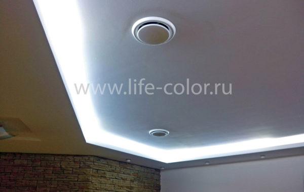 Светодиодная подсветка ниши потолка