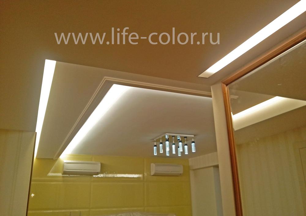 подсветка ниш в ванной