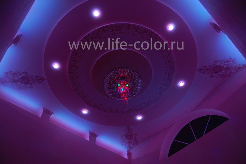 подсветка ниш фиолетовая